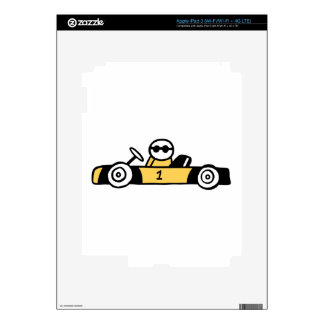 Racing car illustration printed on t-shirts iPad 3 decals