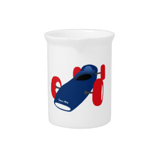 Racing Car illustration printed on t-shirts Pitchers