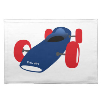 Racing Car illustration printed on t-shirts Placemat