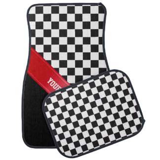 Racing Car Pattern + your backgr. color & text Car Floor Mat