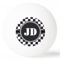 Racing Car Pattern   your backgr. color & text Ping-Pong Ball