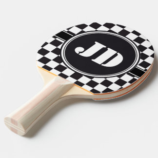 Racing Car Pattern + your backgr. color & text Ping Pong Paddle