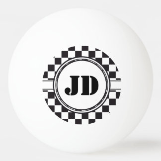 Racing Car Pattern + your backgr. color & text Ping Pong Ball