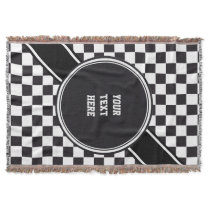 Racing Car Pattern   your backgr. color & text Throw Blanket