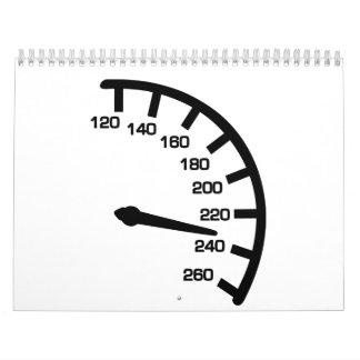 Racing car speed calendar