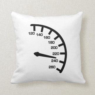 Racing car speed throw pillow