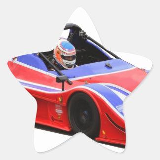 racing car star sticker