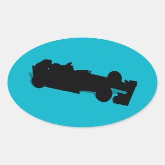 Racing Car Oval Sticker