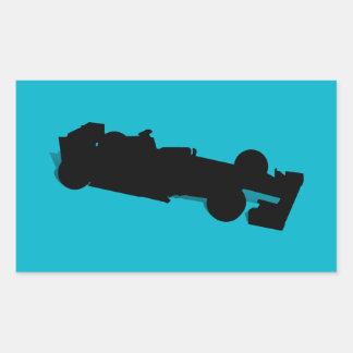 Racing Car Rectangle Sticker