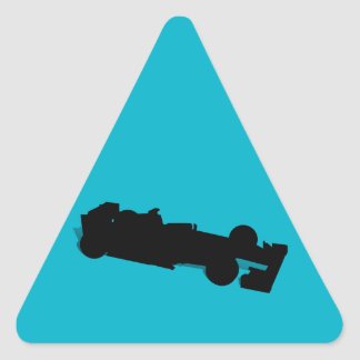 Racing Car Triangle Sticker