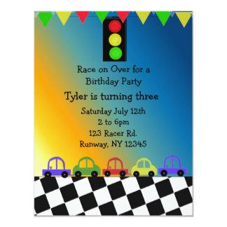 Racing Car Traffic Light Birthday Party Invitation