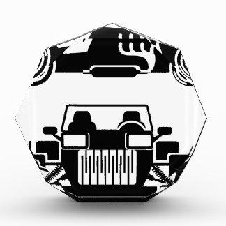 Racing car vintage acrylic award