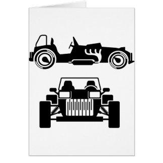 Racing car vintage card