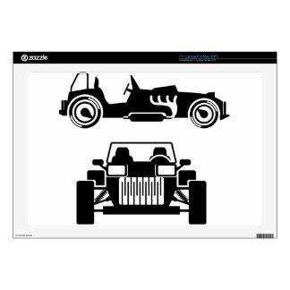 "Racing car vintage skin for 17"" laptop"