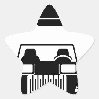 Racing car vintage star sticker