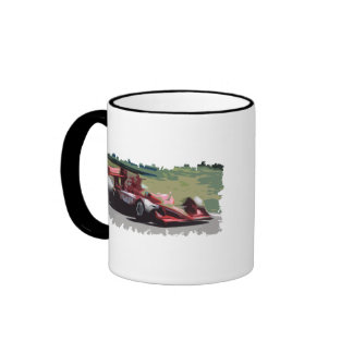 Racing Car With Background Coffee Mug