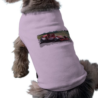 Racing Car With Background Dog Shirt