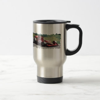 Racing Car With Background Travel Mug
