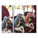Racing Carousel Horses 10x8 Print Photo