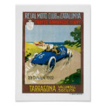 Racing cars 1922 Vintage Art Print Poster