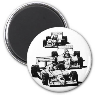 RACING CARS 2 INCH ROUND MAGNET