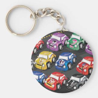 Racing Cars Road Race Keychain