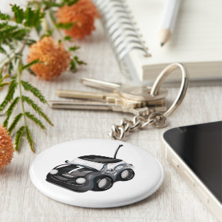 Racing Cars Road Race Basic Round Button Keychain