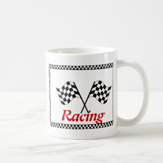 Racing Checkerboard Flags Coffee Mug
