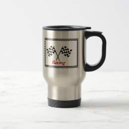 Racing Checkerboard Flags Commuter Mug