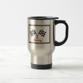 Racing Checkerboard Flags Commuter Mug