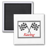 Racing Checkerboard Flags Fridge Magnets