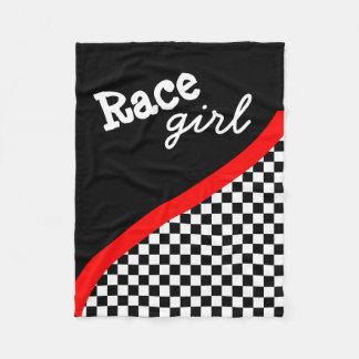 Racing Checkered Flag Fleece Blanet Fleece Blanket