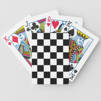 Racing Checkered Flag Pattern Large Black Bicycle Playing Cards