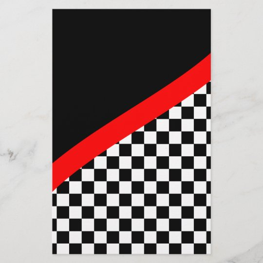 Racing Checkered Flag Scrapbook Paper Zazzle