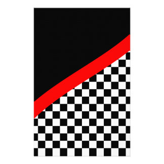 Racing Checkered Flag Scrapbook Paper Stationery Paper
