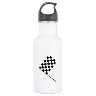 Racing Checkered Flag Water Bottle