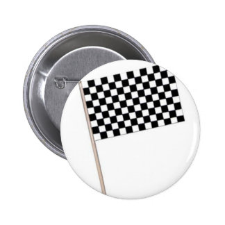Racing Checkered Flags 2 Inch Round Button
