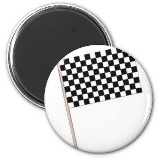 Racing Checkered Flags Magnet