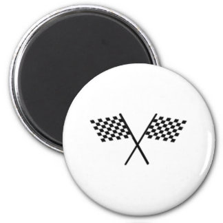 Racing Checkered Flags Refrigerator Magnet