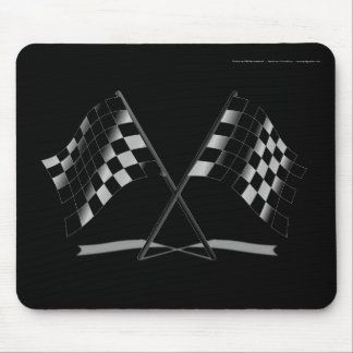 Racing Checkered Flags Mouse Pad