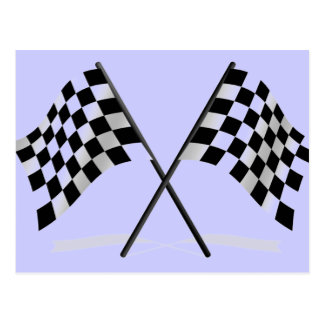 Racing Checkered Flags Postcard