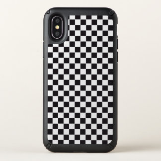 Racing / Chess Pattern - black Speck iPhone X Case