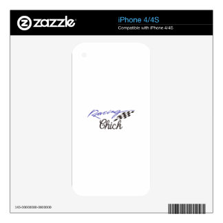 Racing Chick iPhone 4 Skins