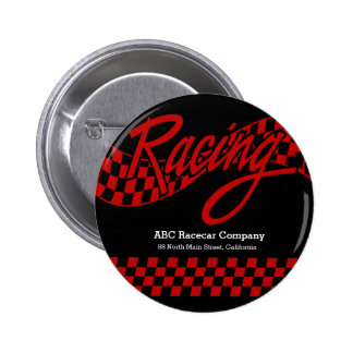 Racing, choose your background color 2 inch round button