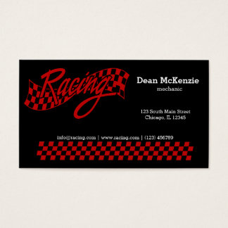 Racing, choose your background color business card