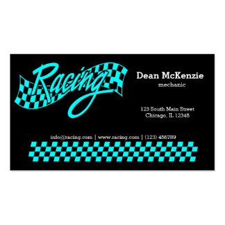 Racing, choose your background color Double-Sided standard business cards (Pack of 100)