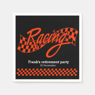 Racing, choose your background color napkin