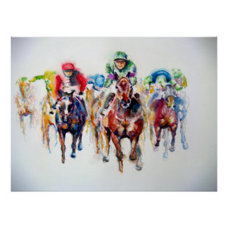 Racing Colors Thoroughbred Racehorse Poster Print