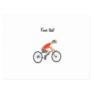 Racing Cyclist, add text Postcard