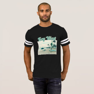 Racing Dinghy and Sun Chairs at Smathers Beach T-Shirt